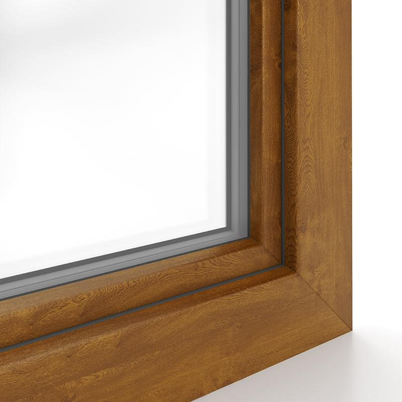 Fenster in Golden Oak