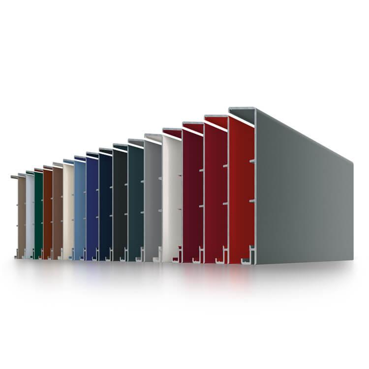 Farben für die Außenschale des Kunststoff-Aluminium Profils