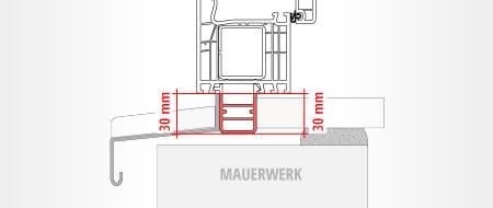 Anschlussprofil Fensterbank bestimmen