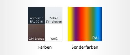 Möglichkeiten Farbkonfiguration Außenfensterbänke