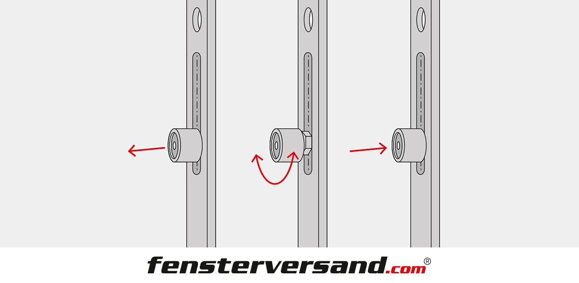 Balkontür Anpressdruck einstellen