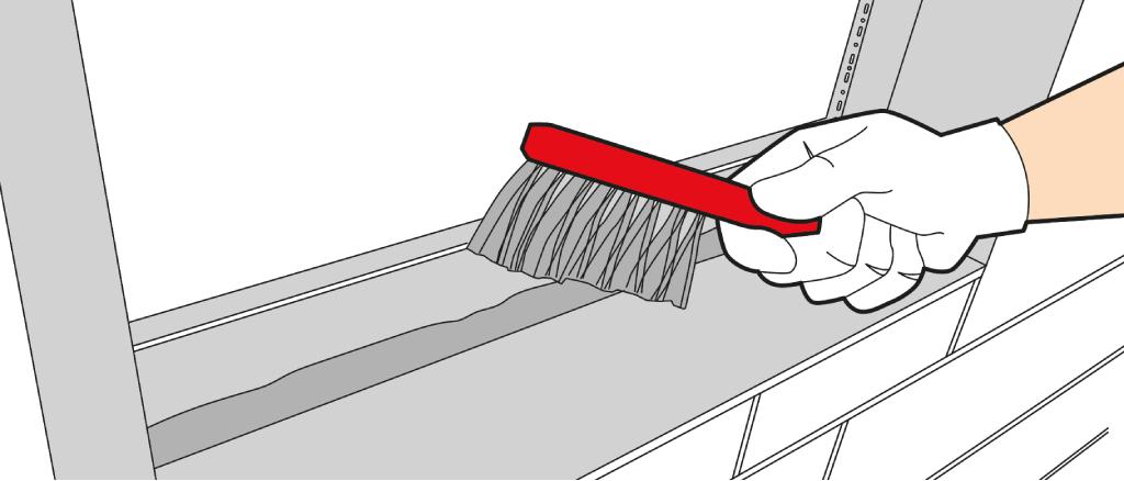 Vorbereitung der Laibung für den Fenstereinbau
