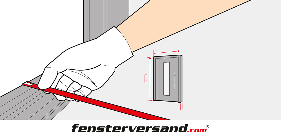 Haustür ausmessen » Eingangstür Maße richtig ermitteln