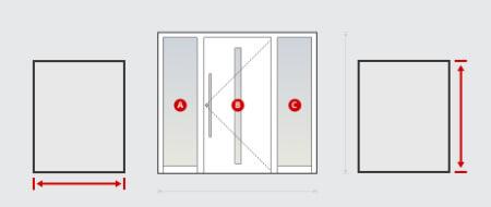 Haustür Größe auf Maß konfigurieren