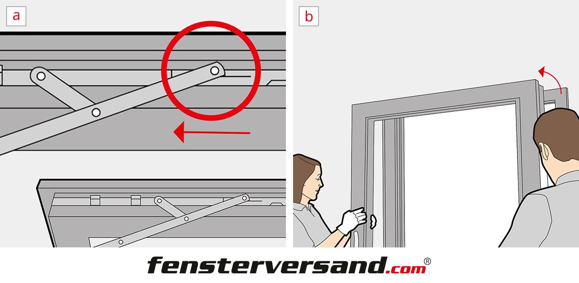 Bevorzugt Terrassentür ausbauen » 3 Schritte Anleitung + Video ZM01