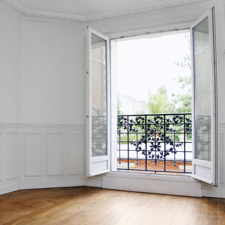2-flügelige Balkontür französischer Balkon