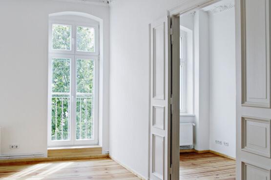 Balkontür 2-flügelig aus Kunststoff mit Oberlicht