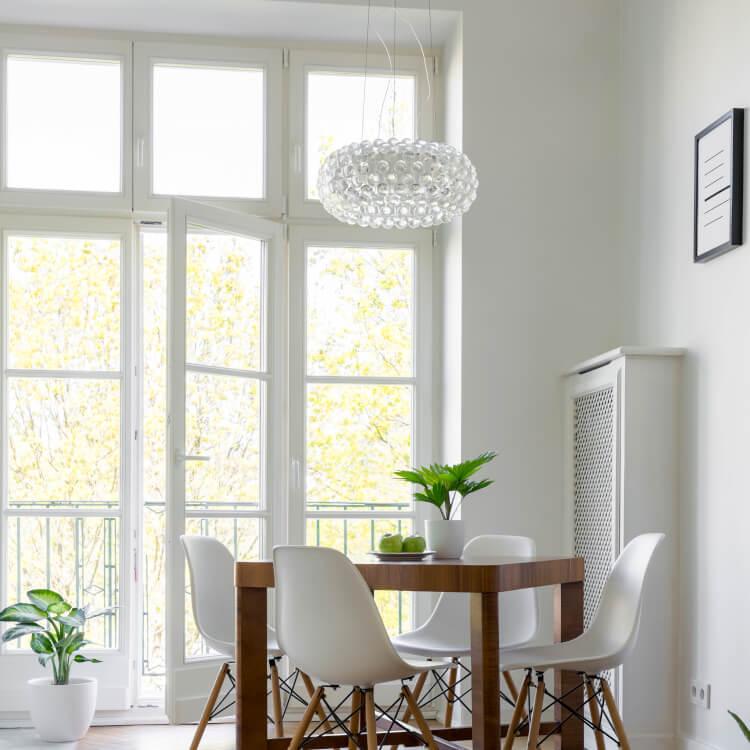 Balkontür Fenster Kombination mit Sprossen