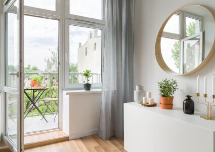 Balkontür mit Fenster