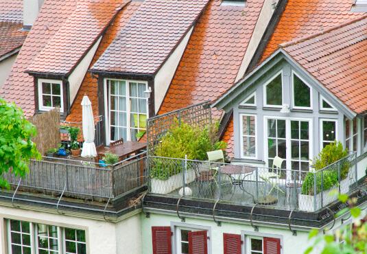 Einbausituation Balkontür mit Sprossen