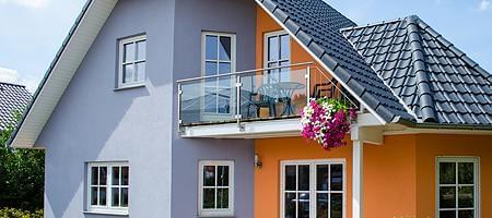 Aufbau der Balkontür aus Kunststoff
