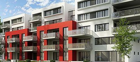 Moderne Fassaden durch Kunststoff Balkontüren