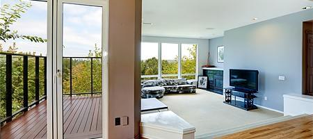 Pflegeleichte Balkontüren aus Kunststoff