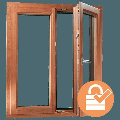 Holz-Alu Fenster Sicherheit