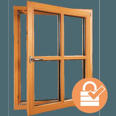 Holzfenster Sicherheit