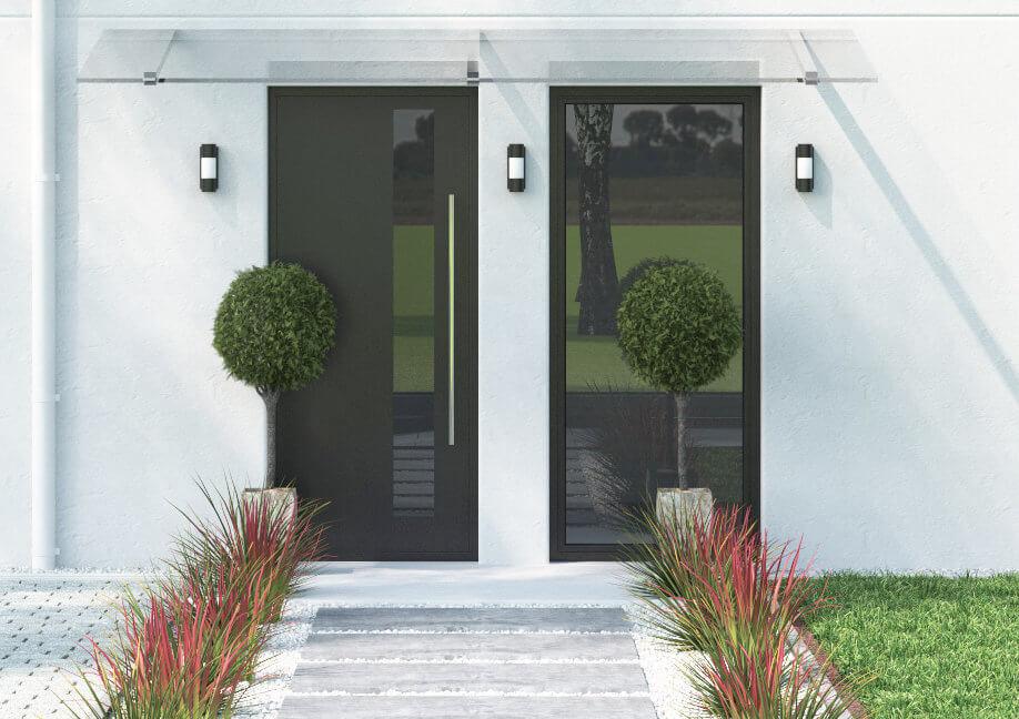 Eingangstüren glas  Eingangstür Glas » moderne Eingangstüren mit Glasfüllung