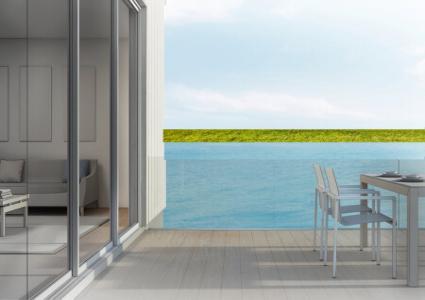 Holz-Aluminium Terrassentür
