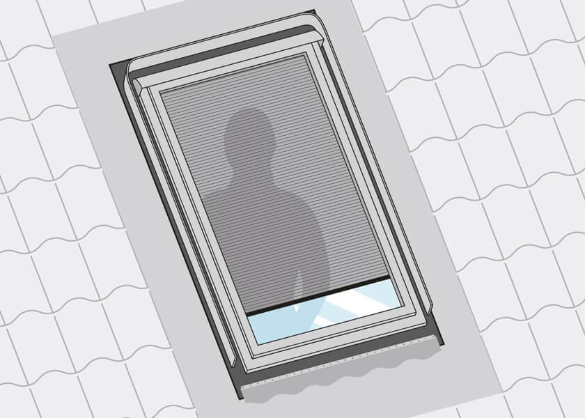Dachfenster Sichtschutzrollo