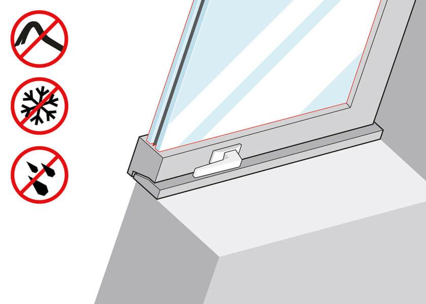Dachfenster Verbundsicherheitsglas