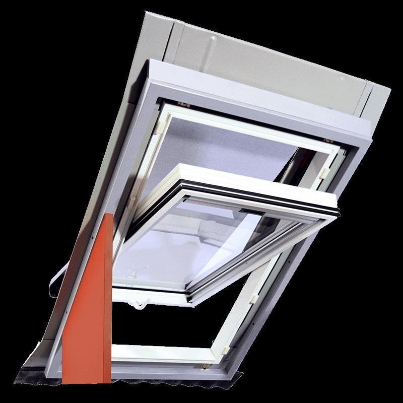 Schwing-Dachfenster Außenrollo