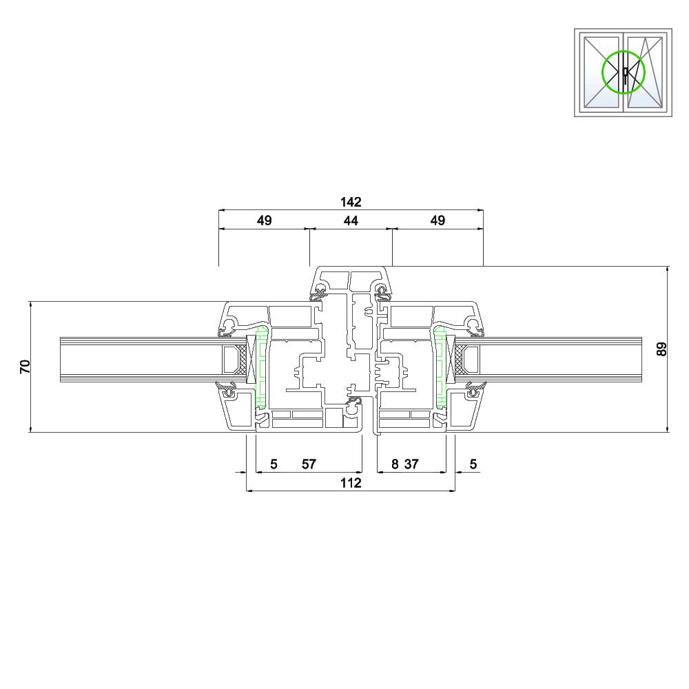Detailzeichnungen kunststofffenster ideal 4000 for Einfache kunststofffenster