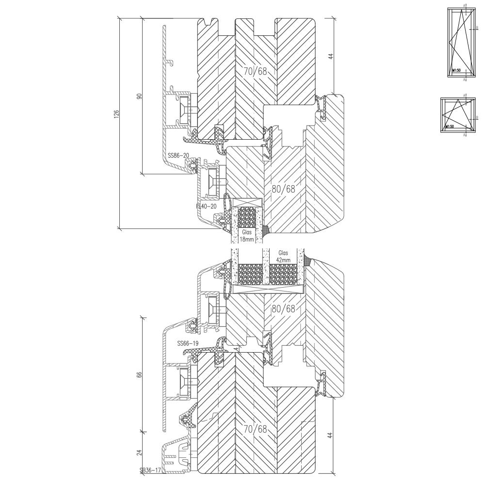 Idealu Classicline IV 68 Profilschnitt