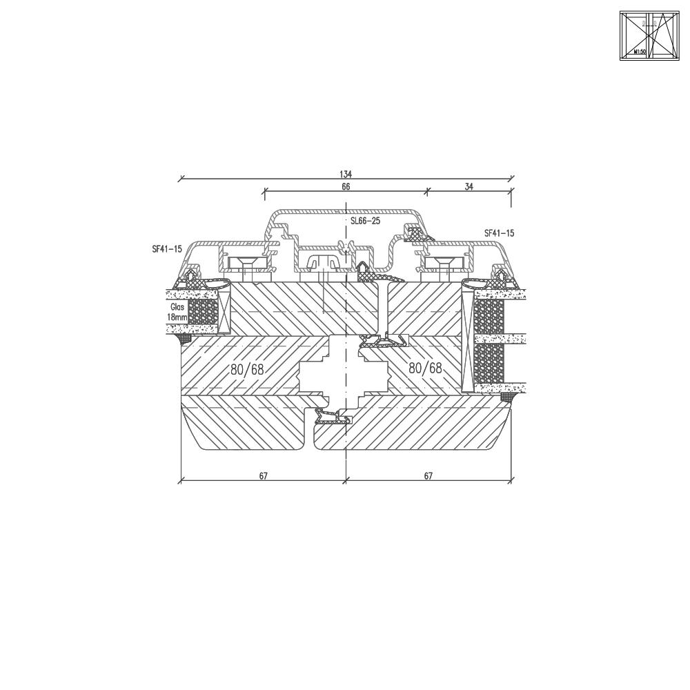 Idealu Classicline IV 68 Stulpdetail