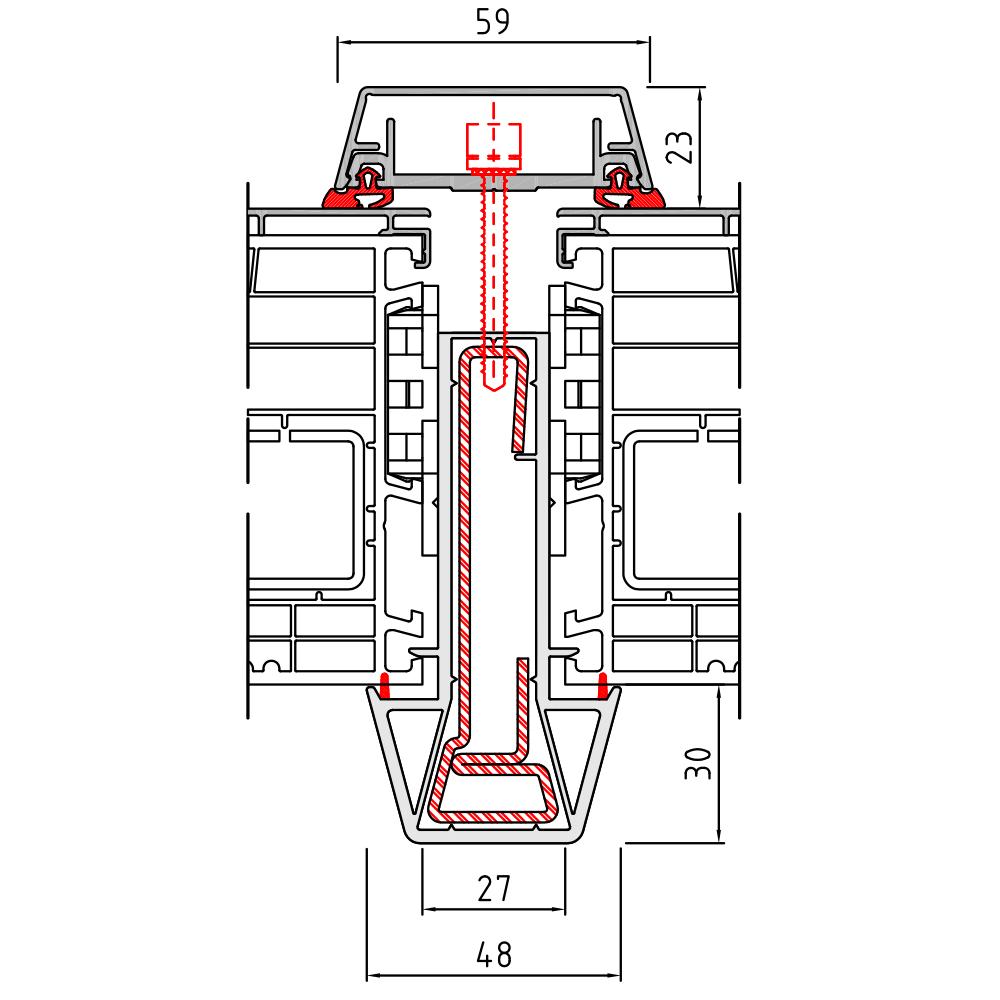 Statikkopplung 2 Energeto View - 75 mm