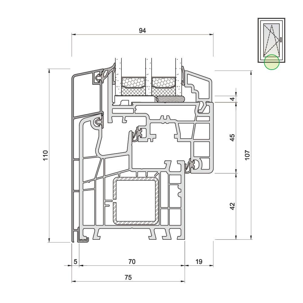 TwinSet View Rahmen und Flügel unten