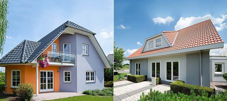 Fassadengestaltung holz  Fassadengestaltung mit Fenstern aus Holz oder Aluminium