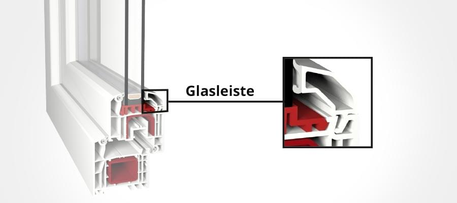 Glasleiste in Detailansicht