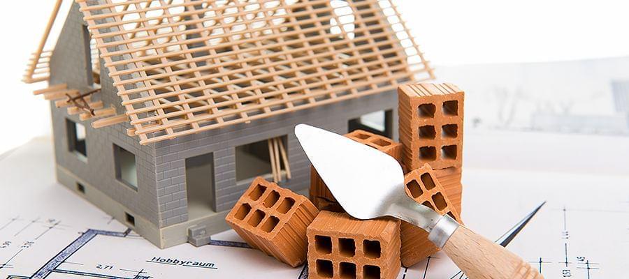 Modell eines Hauses ohne Fenster