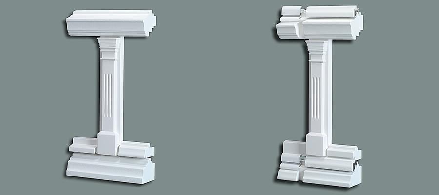 Detailansicht Pfosten / Kämpfer für Stilfenster