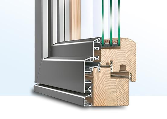 FST Profil aus Holz-Aluminium