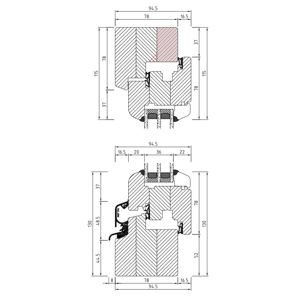 Holz-Roundline-iv78-Profilschnitt