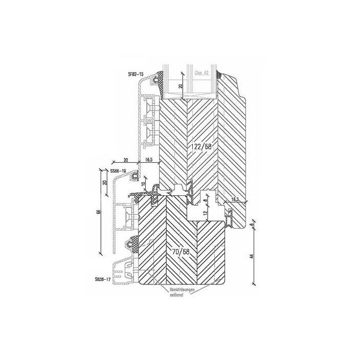Holz-Aluminium Balkontüre mit Türgetriebe