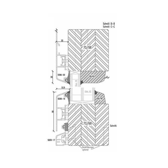 Kunststofffenster detail schnitt  Holz-Alu-Fenster Detail-Zeichnungen und CAD Pläne