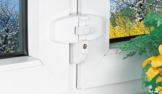 Fenstersicherung gegen Aufhebeln für Doppelflügelfenster