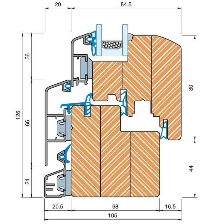 Schwingflügelfenster detail  Holz-Alu-Fenster Detail-Zeichnungen und CAD Pläne