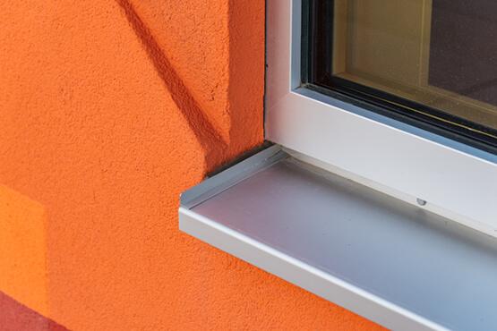 Fensterbank Aluminium Tiefe 360 mm silber EV1 eloxiert außen Fensterbrett