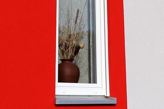 Fensterbank aus Metall Einbausituation