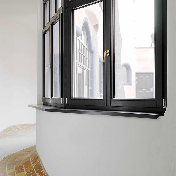 Werzalit Innenfensterbank in Schwarz