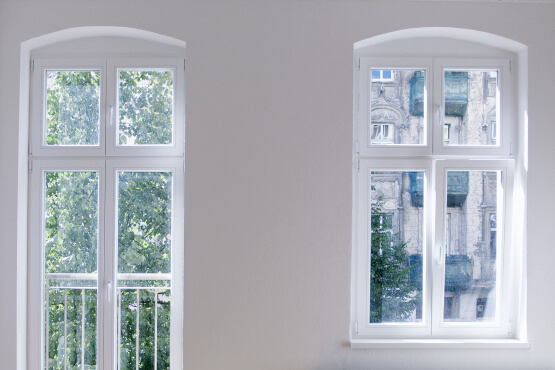 Doppelflügelfenster aus Kunststoff