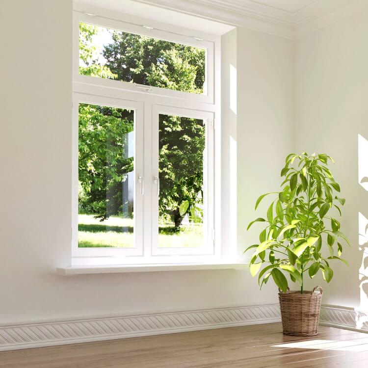 Einbausituation Doppelflügelfenster mit Mittelsteg