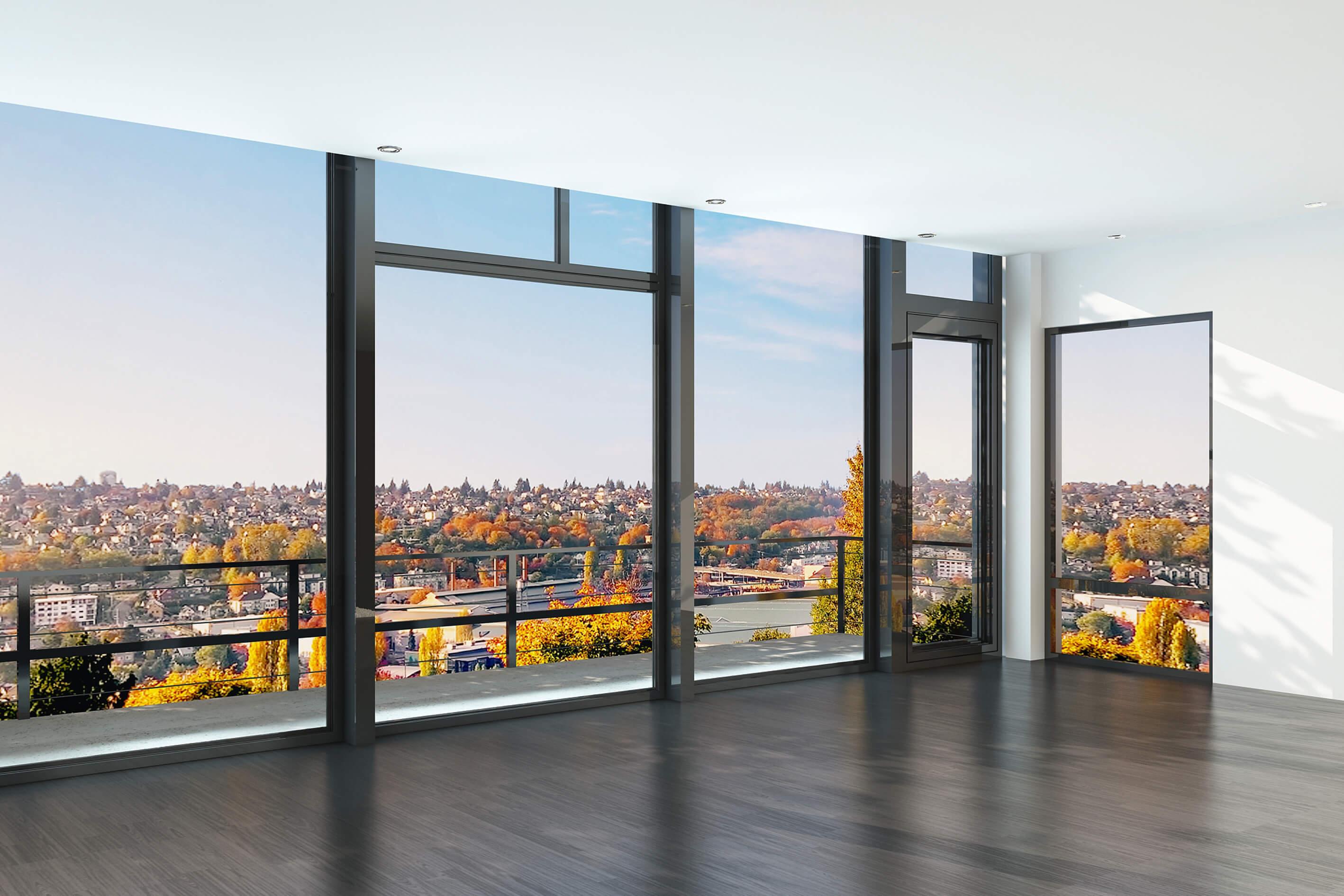 Fensterfront festverglast