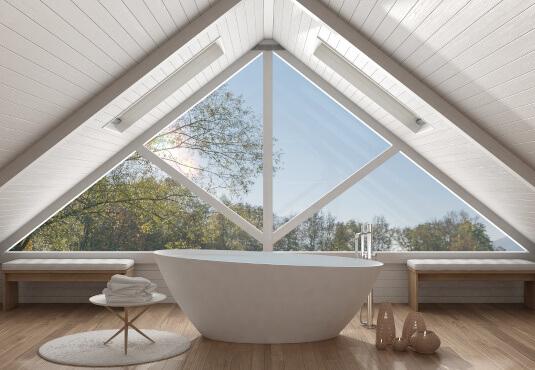 Fenstervariante Dreieck Dachgiebel