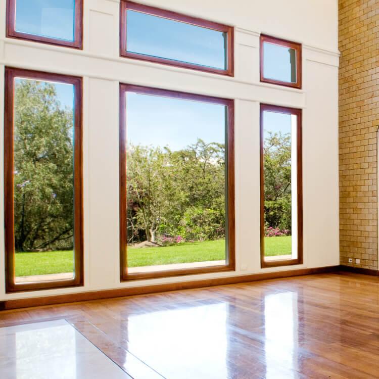 Holzfenster Festverglasung