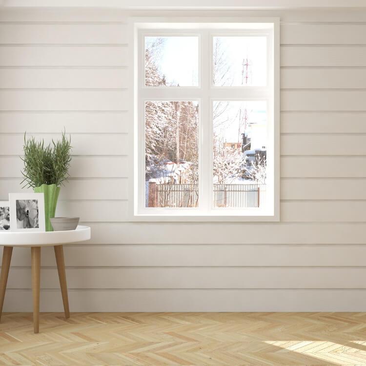 Kunststofffenster Holzoptik in Weiß