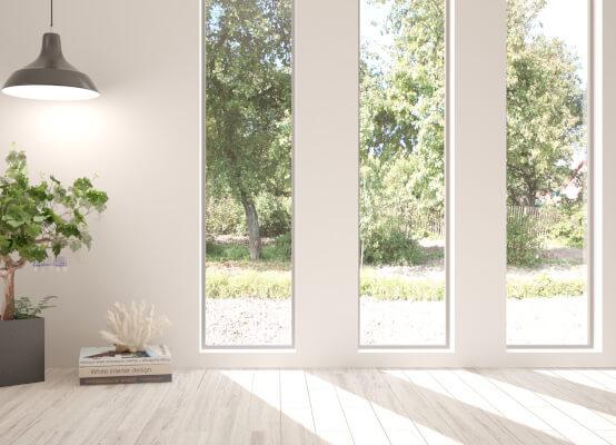 Lichtband-Fenster vertikal