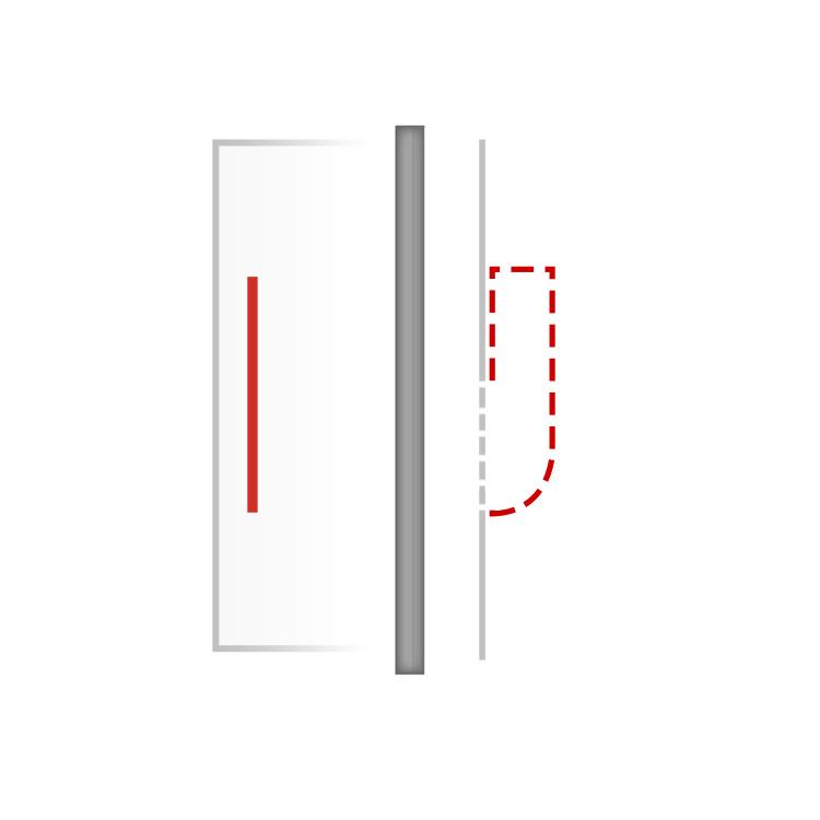 Türgriff für Haustür aus Edelstahl mit Griffmulde